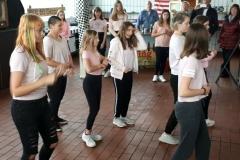 Voll konzentriert: Die Hip-Hop-Mädels in Aktion